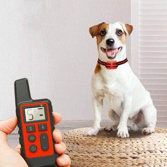 Dog training collar, Rechargable Dog Static Buzz Collar, train your dog remotely up to 2600 ft with sound, vibration or electric impulse, anti barking solution